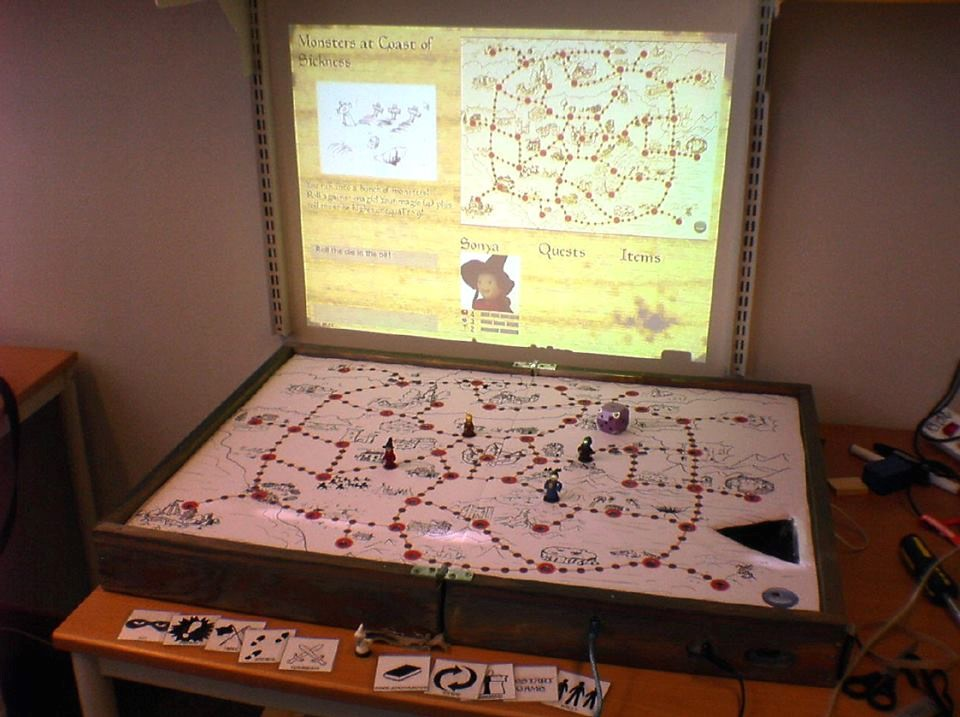 Figure 1: The Wizard's Apprentice game board, sometime after the first turn.