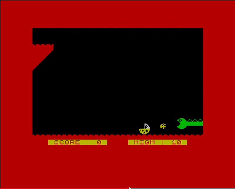 Figure 3: Typed in games of the 1980s – ZX Caveman