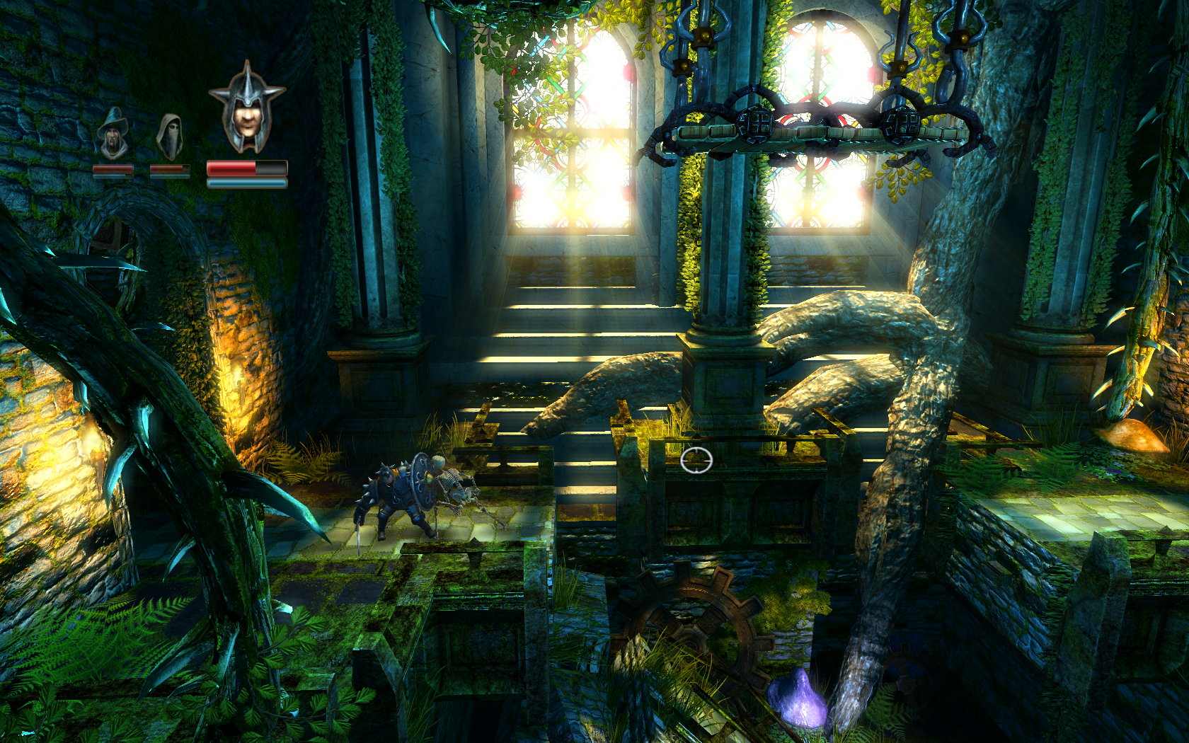 Scene from the game Trine.